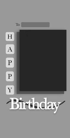 Happy Birthday Template, Happy Birthday Frame, Happy Birthday Posters, Birthday Posts, Printable Birthday Banner, Birthday Collage, Bff Birthday Gift, Creative Instagram Photo Ideas, Instagram Photo Editing
