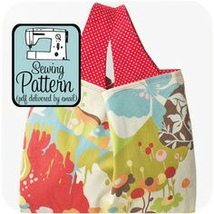 Sew your own reusable shopping bag! (I'd like to say it's because I'm all environmentally friendly, but really...it's because these are prettier.)  :)