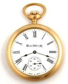 103755816130 DBRM4 New Dueber Watch Co Satin Gold Plated Pocket Watch Mechanical Wind 17  Jewels Swiss Movement