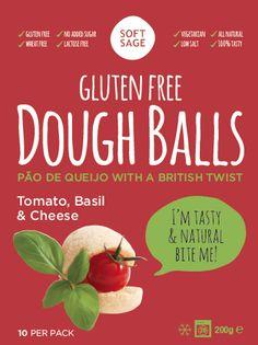 Gluten Free & Vegetarian dough balls, Basil, Cheese & Tomato *glutenfree *vegetarian www.softsage.co.uk
