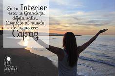 En tu interior esta tu grandeza, déjala salir.. cuéntale al mundo de lo que eres Capaz #frasemotivadora #motivacion #cucuta
