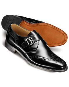 d2bf41cdecb92d Black Compton wingtip brogue monk shoes Black Brogues