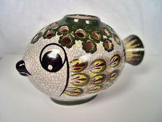 Gmundner Keramik, Fisch, Fayence, Gmunden, Austria, Majolika, Kugelfisch