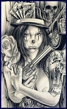 ♣️ For more great pins go to Chicano Style Tattoo, Neo Tattoo, Azteca Tattoo, Cholo Art, Lowrider Art, Composition Art, Line Artwork, Day Of The Dead Art, Grey Art