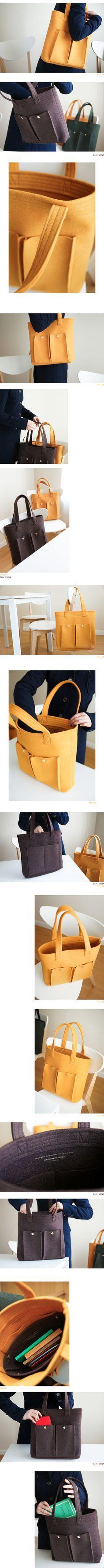 Эко-сумка из войлока Scandinavian Touch. Полностью переворачивает представление о ручной работе: ровная строчка, фирменные заплепки, никаких катышков и неаккуратно…