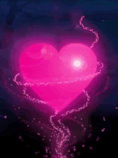 beautiful animation hearts  | Beautiful Heart of Love animated - Graphic Image and Beautiful Heart ...