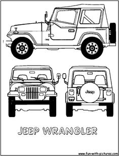 Cartoon Jeep Clip Art | jeep wrangler colouring pages