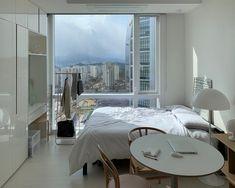 aesthetic bedroom minimalist apartment korean studio interior living hipster places indoor