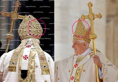 Pope wears Babylonian/Assyrian fish cap and the star of god Moloch. (I don't believe that the majority of Jews know where their star originally came from) Amos 5:25-27 (KJV) 25 (God speaking) ..., O house of Israel? 26 But ye have borne the tabernacle of your Moloch and Chiun your images, the star of your god, which ye made to yourselves. 27 Therefore will I cause you to go into captivity beyond Damascus, saith the Lord, whose name is The God of hosts.