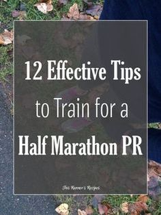Do you want to finally achieve a PR in the half marathon? Follow these 12 tips to train effectively and run a sub 1:45 half marathon!