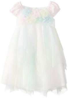 Biscotti Baby-Girls Infant Easter Basket Short Sleeve Netting Dress, Multi, 18 Months (705925806361) This baby dress has a pink knit bodice with small cap sleeves The bodice is covered with fluffy netting multi colored flowers The tiered skirt is a frothy confection of multi colored netting