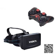 c9537736186f Amazon.com  VIGICA Virtual Reality 3D Video Glasses VR Headset Bluetooth  Game Controller Gamepad for Smartphone PC Windows Set-top Boxes  Home Audio    ...