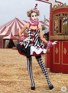 Super coole Harlekin Verkleidung l Clown Kostüm l Adult Sexy Deluxe Harlequin Clown Costume l Cheap Clown Halloween Costume for Sexy Dark Circus, The Circus, Costume Halloween, Clown Costumes, Clown Costume Women, Star Costume, Halloween Makeup, Cute Clown Costume, Clown Wig
