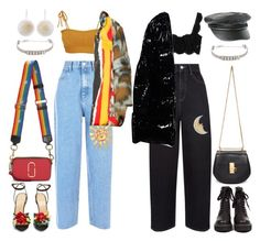 """""""Day n' Night"""" by mikaylaperrine ❤ liked on Polyvore featuring Made By Dawn, Dolce&Gabbana, UNIF, Christian Dior, Volcom, New Look, Marc Jacobs, Chloé and Charlotte Olympia"""