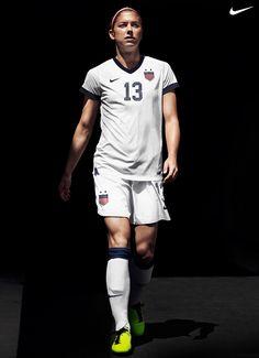 Alex Morgan in the new Nike U.S. Soccer Centennial Jersey.