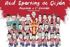 El póster con la plantilla del Sporting.