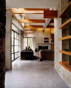 Gemütliche Holzverkleidung innen von Bertram Architects #architects ...