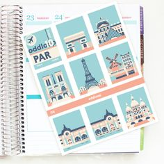 Travel the World: Paris Full Box Planner Stickers by oddloop