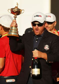 Holmes Photos - J. Holmes of the United States holds the Ryder Cup during the closing ceremony of the 2016 Ryder Cup at Hazeltine National Golf Club on October 2016 in Chaska, Minnesota. Chaska Minnesota, Ryder Cup, October 2, Golf Clubs, United States