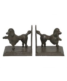 Another great find on #zulily! Poodle Dog Bookends #zulilyfinds