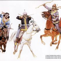 parthian persian horse archers during the wars against rome