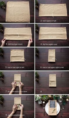 Table Setting Tips: The Single Pocket Fold | Evermine Blog | www.evermine.com
