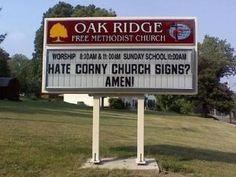 We like the funny church signs!