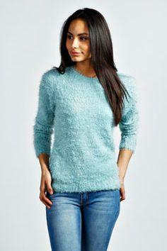 Kelis Fluffy Knit Jumper at boohoo.com