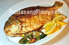 Pompano is a type of marine fish. It has white meat which is tasty. This fried pompano recipe is a simple and easy to follow recipe that anyone can do -- especially those who fear splattering oil when frying.