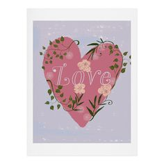 Joy Laforme Love your Valentine Art Print | DENY Designs Home Accessories