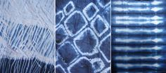 Website gives instructions for Shibori (Japanese cloth dyeing).  Someday when I'm feeling adventurous. . .