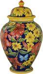 Italian Ceramic Centerpiece Urn - Blue Lillies and Daisies Talavera Pottery, Ceramic Pottery, Pottery Art, Ceramic Painting, Ceramic Art, Porcelain Vase, Painted Porcelain, Italian Pottery, Pots