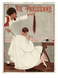 La Vie Parisienne magazine cover, May bobbed haircut Haircut Salon, La Girl, Vintage Fur, Vintage Ideas, Vintage Designs, Advertising Archives, Vintage Hairstyles, Bob Hairstyles, Hair Art