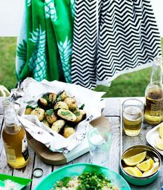 Baby potato parcels with burnt butter and garlic recipe - Gourmet Traveller