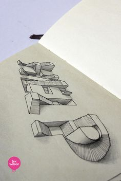 This is so cool!  Moleskine illustration #23: Help. (typography)