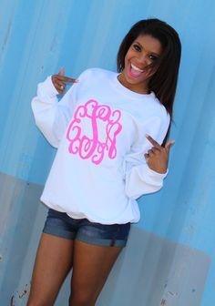 Marleylilly.com - Full Monogrammed Crewneck Sweatshirt #fashion #ootd #monogram