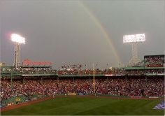 two of my favorites rainbows and Red Sox!