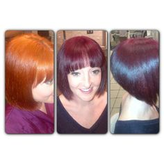 Joannes before and after hair cut by denny and colour by sherell