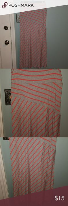 Maxi skirt Coral and gray. Nwot Faded Glory Skirts Maxi
