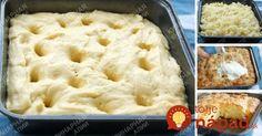 Úplne fantastický dierkovaný koláč z kysnutého cesta: Ešte horúci ho prelejte smotanou a najlepší dezert dňa je na stole!