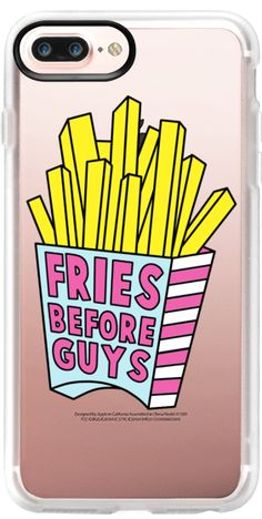 Casetify iPhone 7 Plus Case and iPhone 7 Cases. Other Food iPhone Covers - More Fries Before Guys by Jade Boylan | Casetify