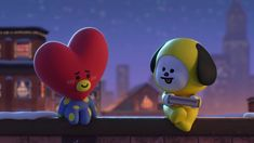 tata and chimmy Iphone Background Wallpaper, Bts Wallpaper, Bts Face, Happy Friendship, Rhyme And Reason, Bts Chibi, Yoshi, Boy Bands, Are You Happy