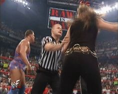 Stephanie McMahon slaps a referee - WWE Raw September 11 2000 Stephanie Mcmahon, Wwe Stuff, Cute Cartoon Girl, Thing 1, Triple H, Referee, September 11, Wwe Divas, Lady And Gentlemen
