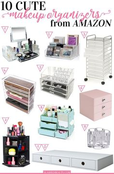 10 Cute Makeup Organizers to Buy on Amazon, 10 Cute Make-up Organizers to Purcha... #amazon #makeup #organizers #purcha