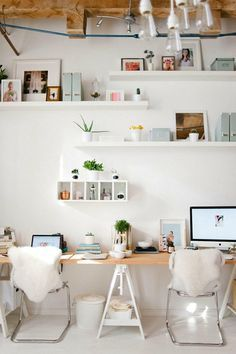 Keep your workspace streamlined + stylish with white accessories.