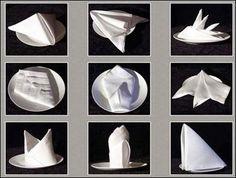 Como dobrar os guardanapos de forma original