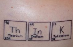 We can't seem to find the original posting of this thorium-indium-potassium tattoo, but we think it was posted in Carl Zimmer's Science Tattoo Emporium (http://blogs.discovermagazine.com/loom/science-tattoo-emporium/)