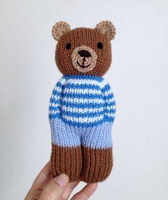 NÁVOD - pletený medvídek