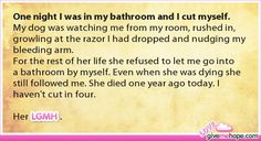 One night I was in my bathroom and I cut myself. Gives me hope Cute Stories, Beautiful Stories, Short Stories, Make You Cry, Give It To Me, Love Gives Me Hope, Faith In Humanity Restored, Good People, Feel Good