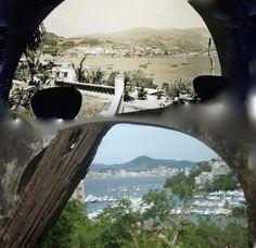 Hotel La Riviera 1942 Arq Pedro Pellandini  Mismo Angulo de visión, dos épocas   En Ruinas